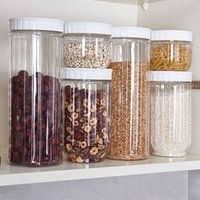 Kitchen Transparent Storage Container With Lids Sealing Pot ...