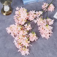 Fiori decorativi Corone 1 PZ High Quality Quality AFTIFICIAL Fiore Simulazione Cherry Blossoms Plant Wedding San Valentino Party Decor