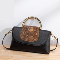 Johnature 2021 novo couro genuíno vintage bolsas geométricas zíper versátil bolso mulheres bolsas crossbody bolsas