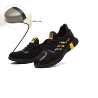 Botas para hombre del casco de acero del dedo del pie zapatos de seguridad deporte al aire libre Trabajo ruta de senderismo transpirables zapatos de seguridad Calzado Formadores explosiva anti-perforación