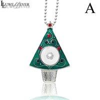 قلادة القلائد luwellever شجرة عيد الميلاد القابلة للتبديل كريستال الزنجبيل قلادة 031 صالح 18 ملليمتر المفاجئة زر سحر مجوهرات للنساء هدية 1