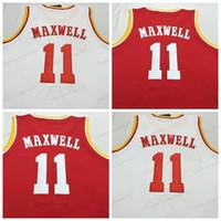 Benutzerdefinierte # 11 Vernon Maxwell Basketball Jersey Männer genäht Weiß Rot Jede Größe 2xs-5XL Name und Nummer Top Qualität