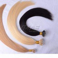 VMAE Natürliche braune blonde 50g 100g 613 doppelt gezeichnete einen Spender Remy Jungfrau Unverarbeiteter Haarverlängerung gerade Micro Nano Ring