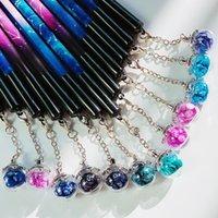أقلام هلام Kawaii 12 الأبراج الكرة الزجاجية قلادة النمذجة طالب شخصية توقيع هدية اللوازم المدرسية 1 قطع