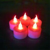 LED Candle чай Single Многоцветных Доступные Поворотные Электронные Night Light Украшение номер Рождество Свадьба Свет