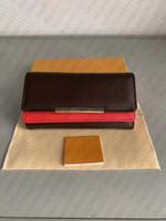 2020 новый L мешок Бесплатная доставка Billfold Высококачественная клетчатка Узор женские кошельки Мужчины Publes High-End S дизайнер L Cleunt с коробкой 118