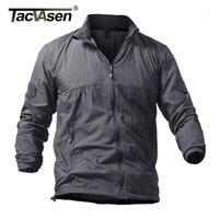 Tacvasen Yaz Hızlı Kuru Taktik Cilt Ceket Kaban Erkekler Kapşonlu Ince Rüzgarlık Ceket Rahat Giyim Artı Boyutu 5XL1