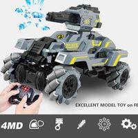 WY 2.4G 13 Kanäle 100M RC Drift Tank-Stunt-Auto-Spielzeug, 4MW Auflegungswasserbomben, Krabbe Lateral Run, 50 ° steile Steigung Climb, für Boy Weihnachtsgeschenk, 2-1