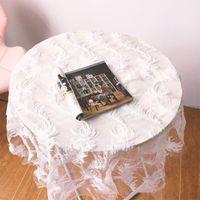 Романтическое перо узор белый кружевной таблицы ткань прямоугольник скатерть для свадьбы домашнего декора ужин конечный прихожей стол