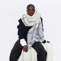 Jieling Herbst Winter 2019 Z Home Ein spezielles Zähler gleiche Farbe Matching Plaid Cashmere Like Skal super weiche ee warme Männer und Frauen