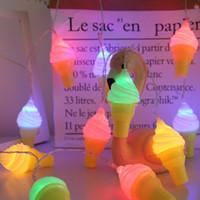 Sorvete 3D Lâmpada Luzes Fadas Garland LED String Luzes de Natal Árvore de Natal Cadeia de Cadeia Festa Ao Ar Livre Kids Quarto Decorações Presente