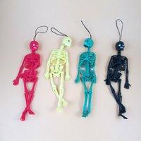 Zhefanku divertenti trucchi giocattolo replica luminoso nottilucenti scheletro del cranio di Halloween Model Game portachiavi decorazione Party i giocattoli di proprietà