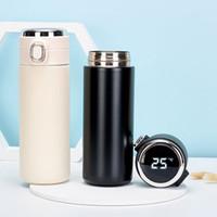 Garrafas de água com exibição de temperatura Espartilo Aço Inoxidável Flasks de Vácuo Café Caneca Tumbler Leak Proof Copo