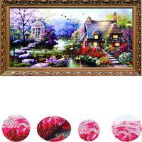 5D diamante mosaico paisagens jardim lodge cristal diamante pintura cruz costas kits diamantes bordados decoração de casa git 201112