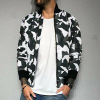 2020 New Men Winter Jacket Bomber Jackets Brasão Zip Homens Casual Camouflage Trench Outwear Up Baseball Tops Coats M-2XL