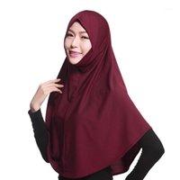 Этническая одежда Женщины головы шарф мусульманский растягивающие тюрбан шляпа химическая кепка выпадение волос обертки хлопок комфортно LY C04111
