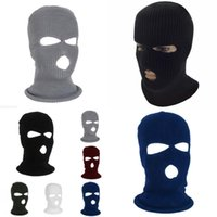 Ski Full Mask Mask 3 маска зимняя крышка отверстие Balaclava Cust Motorbike мотоцикл шлем полный лицевой рук