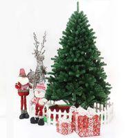 US Stock 7 Dagar Leverans Julgran 7.5ft Artificial Hinged Xmas Tree med 400 Pre-Strung LED-lampor Fällbar metallstativ