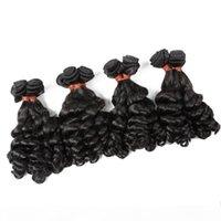 10-30 pulgadas de color negro Brasileño Onda suelta Remy 100% Extensiones de cabello humano 6A Paquetes de tejido de pelo doble sin procesar