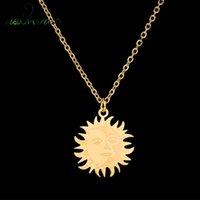 Nextvance Acier inoxydable Moon Star Colliers Sun Soleil Gold Collier Pendentif Cynthia Simple Pour Femmes Mode Bijoux