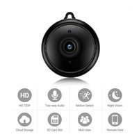 Telecameras Hamrolte Mini WiFi IP Camera Bicchiere Baby Monitor HD 720P Wireless Interno Nightvision Nightvision Two Way Audio Motion Detection V3801
