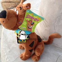 Orijinal ABD 35 cm Scooby Doo Köpek Sevimli Yumuşak Dolması Peluş Oyuncak Bebek Doğum Günü Hediyesi Çocuk Erkek Bebek Hediye LJ201126