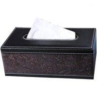 Telaio tessuto Telaio Decorativo Carta decorativa Drawing Cover Protettivo Veicolo Tissue Box Rettangolare in pelle multi-funzionale TI1