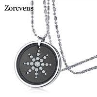 Modyle Нового дизайн Lava Stone Квант ожерелье для мужчин Скалярной энергии кристалл ожерелье из нержавеющей стали