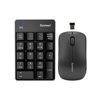 Keyboard Mouse Combos 2.4 ГГц 18 ключей беспроводной числовой клавиатуры Номер оптического комбо установка1