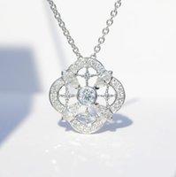 مجوهرات الكلاسيكية 925 فضة ماركيز قص قلادة مصنع الأبيض توباز CZ الماس المرأة الزفاف الشعبية عظم الترقوة الزفاف قلادة هدية