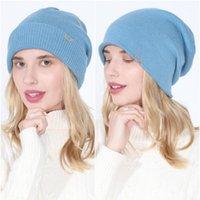 Bonnet Beanie / Crâne Caps Casquettes Hiver 12 couleurs Bonnet Solide Chapeau pour femmes Double Bonnet Lady Bonnet Chapeaux Stockage Casquette Casquette Casual Bonnets Hats1