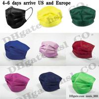 15 Farben Gesichtsmaske 50 stücke Einzelhandelspaket Schwarz 3 Schichten Vlies Einweg Maske Schutz Gesichtsschild Erwachsene Kinder Großhandel Auf Lager