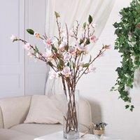 Flores decorativas Grinaldas 90cm magnólia Artificial Longo Stem Falso De Seda Vaso Arrangment Orchid para Home El Jardim Wedding Decor1