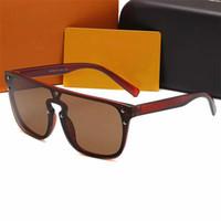 2021 Высокое Качество Бренд1082 Солнцезащитные очки MEN2 Мода Доказательства Солнцезащитные Очки Дизайнерские Очки Для Мужской Женские Солнцезащитные Очки Новые Очки