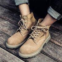 Aqueça Martin maré grande guerra tamanho botas de lobo do deserto além de veludo mid-cut sapatos altos-top retro militar ferramental botas curtas botas dos homens