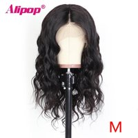 Alipo Human Hair Wigs For Women Lace Front Wigs Pru Plucked With Baby Hair Body Wave Wig T Part Brazilian Remy Wig