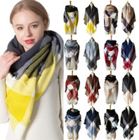 Plaid Scarves Girls Shawl 140*140cm Grid Wraps Lattice squar...
