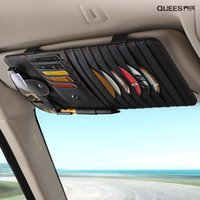 Real Leather Car Seat organizer Sun Visor Storage Bag Stowing Tidying Cards Holder CD Disc Case Auto Accessories Car Styling1