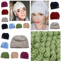 Fashion Women Stretch Knitted Crochet Beanies Winter Hats Fo...