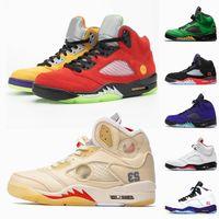أعلى جودة 2020 Jumpman 5 ما من أحذية كرة السلة الشراع النساء ريترو الرجال 5 البديل العنب 5S النار الأحمر ولاية أوريغون البط أحذية رياضية