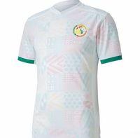 20-21 Senegal Thai Quality Soccer Jersey National Team 10 3 Koulibaly 20 Baldé Dropshipping aceptada descuento barato en línea popular