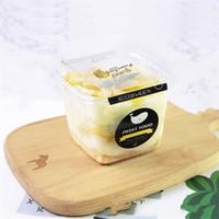 Boîtes de gâteau de nombreuses couches jetables Carré Bento Pudding Mousse Transparente Boîte d'emballage en plastique Vente chaude 0 42ly J2