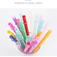 قابلة لإعادة الاستخدام PP من البلاستيك سترو الشرب 9.45 بوصة BPA الحرة والإيكولوجية الألوان الملونة الصديقة الأمازون يدعم حزمة مخصصة 145 K2