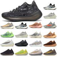 2021 Designer Kanye West 380 V3 Chaussures de course Poivler Blue Oat Fin Alien Mist 3M Hommes réfléchissants Femmes Sports Sports Sneakers Runner Casual Sports Shoes