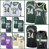 MilwaukeeBucksTrikots Giannis 34 AntetokounMPO Jersey Basketball Ray Jabari Allen Parker Khris 22 Middleton Eric 6 Bladsoe Männer