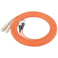 5pcs / lot SC / UPC à FC / UPC Cordon de raccord de la fibre optique multimode OM1 62.5 / 125UM Câble de canal de fibres 3.0mm1