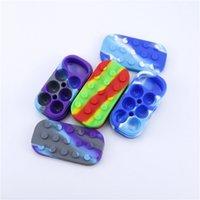 6 + 1 Nichtstick Wachsbehälter Silikon Big Gummi Wachs JAR 7-in-1 Siliziumbehälter Gläser DAB-Speicher Dabber Box DHL frei