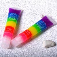 Impermeabile Lunga durata Liquido Liquido Rossetti Arcobaleno zucchero Gustoso Lip Gloss Idratante Idratante Balsamo per labbra Trucco facile da indossare DHL