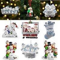 2020 Рождественские семейные украшения Рождественские подвески Рождественские украшения DIY Пожелания и имя Xmas Hired XD24080