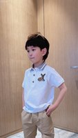New Kids Boys Girls T Shirt 2021 Summer Fashion Children Boys turn-collar Short-Sleeved Toddler Breathable Tees Cotton Clothing tops